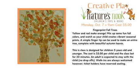 Creative Play Fingerprint Fall Trees tickets