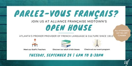 Alliance Française Midtown Open House – Visit Atlanta's French Connection! tickets