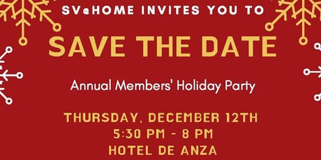 SV@Home Member Holiday Party 2019 tickets