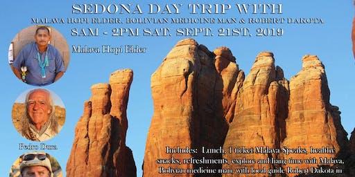 Sedona Day Trip With Malava Hopi Elder, Bolivian Medicine Man & Robert Dakota Seminar Combo