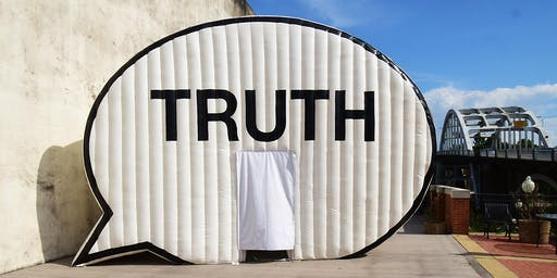 In Search of the Truth (Truth Booth) at Kiener Plaza