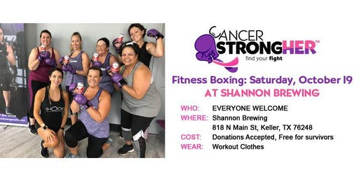 Cancer StrongHER Boxing at Brews for Boobs—October 2019