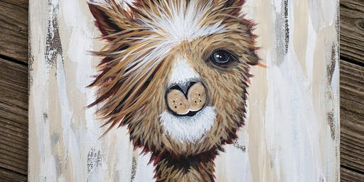 Jerry the Alpaca Private Paint Party - $40