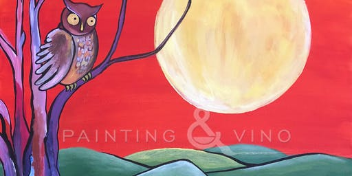 """Owl at Dusk"" Painting & Vino Event"
