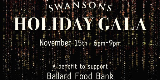 Swansons' Holiday Gala: a Benefit for the Ballard Food Bank