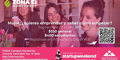 Techstars Global Startup Weekend Monterrey Women  entradas