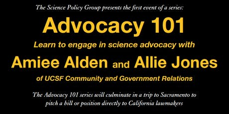 Advocacy 101 tickets