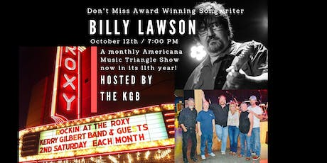 Rockin' At The Roxy with The KGB and Guest, Billy Lawler tickets
