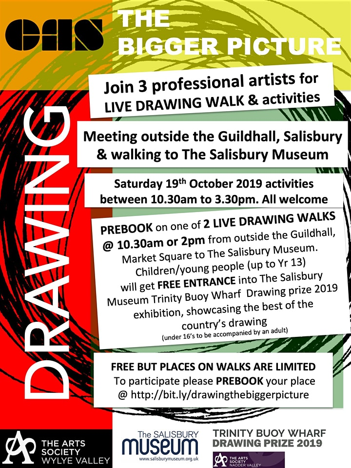 Drawing the Bigger Picture - Salisbury Live Drawing Walk image
