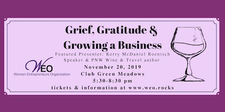 Women Entrepreneurs Org Nov 2019 Meeting: Wine & Words tickets