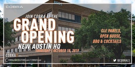 Cobra Grand Opening | CLE Panel Discussions & Cocktails tickets
