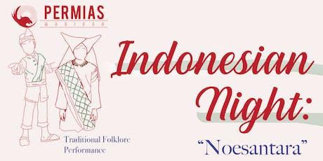 Indonesian Night 2019: Noesantara tickets