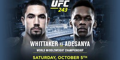 UFC 243 Whittaker vs Adesanya at Nashville Underground