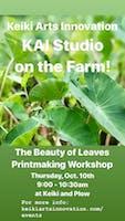 The Beauty of Leaves Printmaking Workshop