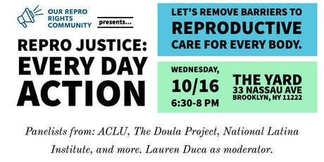 Repro Justice: Every Day Action tickets