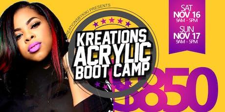 Kreationsbykiki Acrylic Boot Camp November 2019 tickets