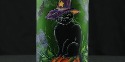 Halloween Lighted Wine Bottle Painting Event