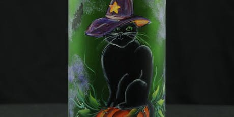 Halloween Lighted Wine Bottle Painting Event tickets