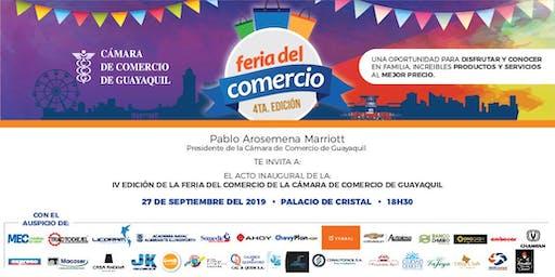 Acto de inauguración de la IV FERIA DEL COMERCIO de la Cámara de Comercio de Guayaquil