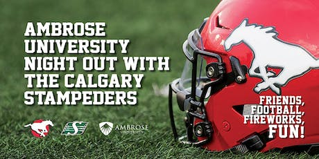 Ambrose Night Out With The Calgary Stampeders tickets