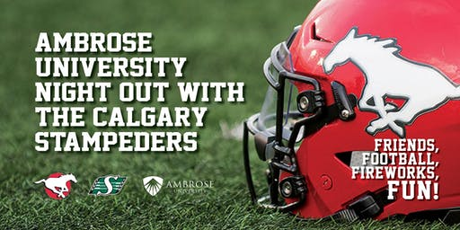Ambrose Night Out With The Calgary Stampeders