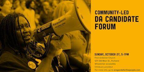 Community-Led DA Candidate Forum Registration tickets