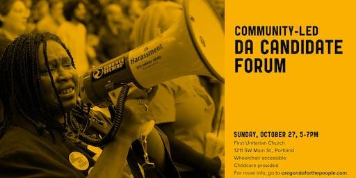 Community-Led DA Candidate Forum Registration