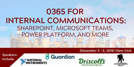 O365 for Internal Communications: SharePoint, Microsoft Teams, Power Platform, and More tickets