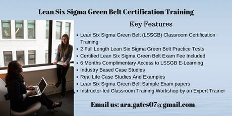 LSSGB Certification Course in Dubuque, IA tickets