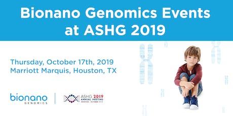 Bionano Genomics Events at ASHG 2019 tickets