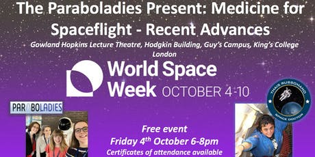 The Paraboladies Present: Medicine for Spaceflight (World Space Week event) tickets