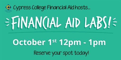 2020/2021 Financial Aid Lab - October 1st - 12pm