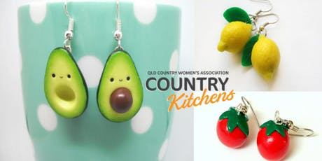QCWA Country Kitchens Workshop: Polymer Clay Fruit and Vegetable Earrings  tickets