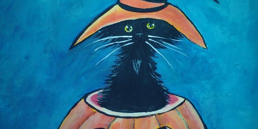 Paint & Sip - Pumpkin Kitty