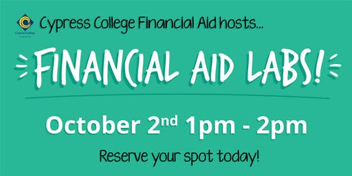 2020/2021 Financial Aid Lab - October 2nd - 1pm