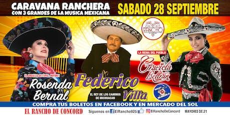 Caravana Ranchera-Sabado 28 de Septiembre-El Rancho de Concord tickets