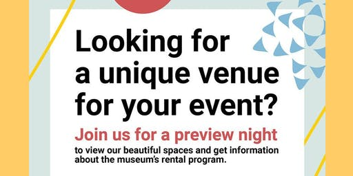 Museum Rental Program Preview Night