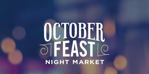 OctoberFeast Night Market – Thursday 24 October