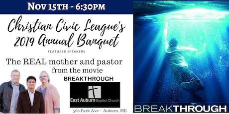 Christian Civic League of Maine's 2019 Annual Fall Event at East Auburn Baptist Church  tickets