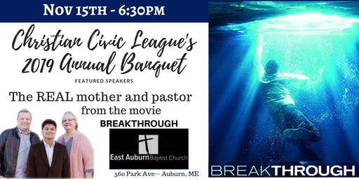 Christian Civic League of Maine's 2019 Annual Fall Event at East Auburn Baptist Church