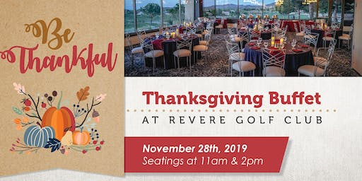 Thanksgiving Buffet at The Revere Golf Club