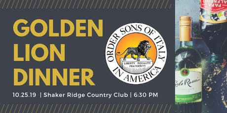 2019 Golden Lion Dinner tickets