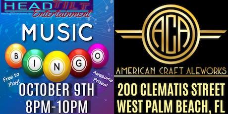 Music Bingo at American Craft Aleworks - West Palm Beach, FL tickets