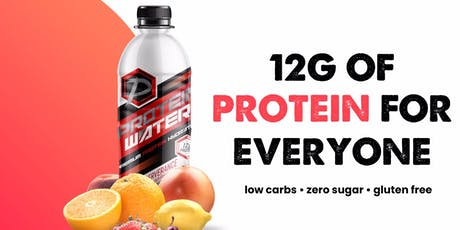 PROTEIN WATER POP-UP. GIVING AWAY FREE PROTEIN WATER. tickets