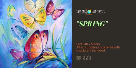 SPRING - coffee and paint workshop tickets
