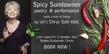 Spicy Sundowner event with UK poet Chrys Salt MBE   tickets