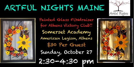 Painting on Glass FUNdraiser for Athens Victory Club!