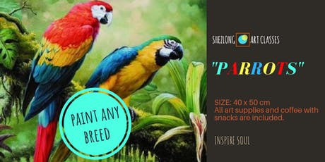 PARROT- coffee and paint workshop tickets