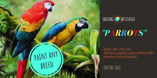 PARROT- coffee and paint workshop