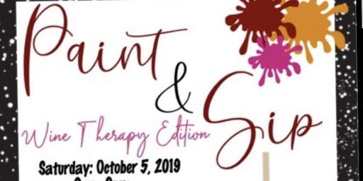 Paint & Sip Wine Therapy Edition